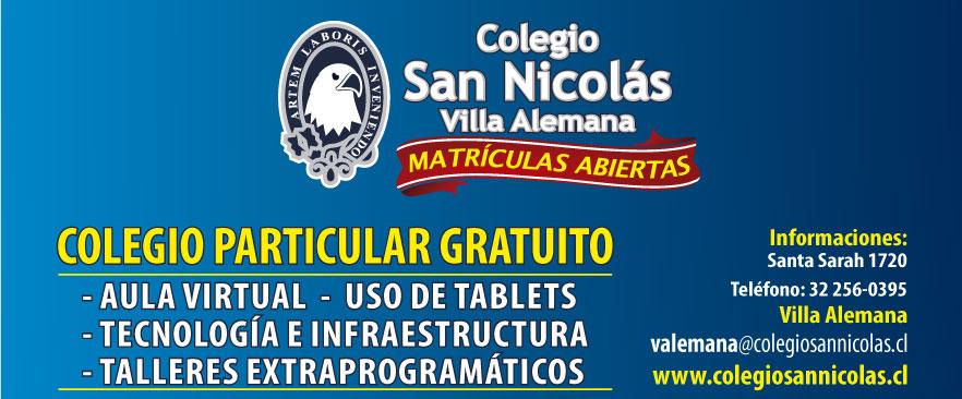 Admisión Colegio San Nicolás 2017