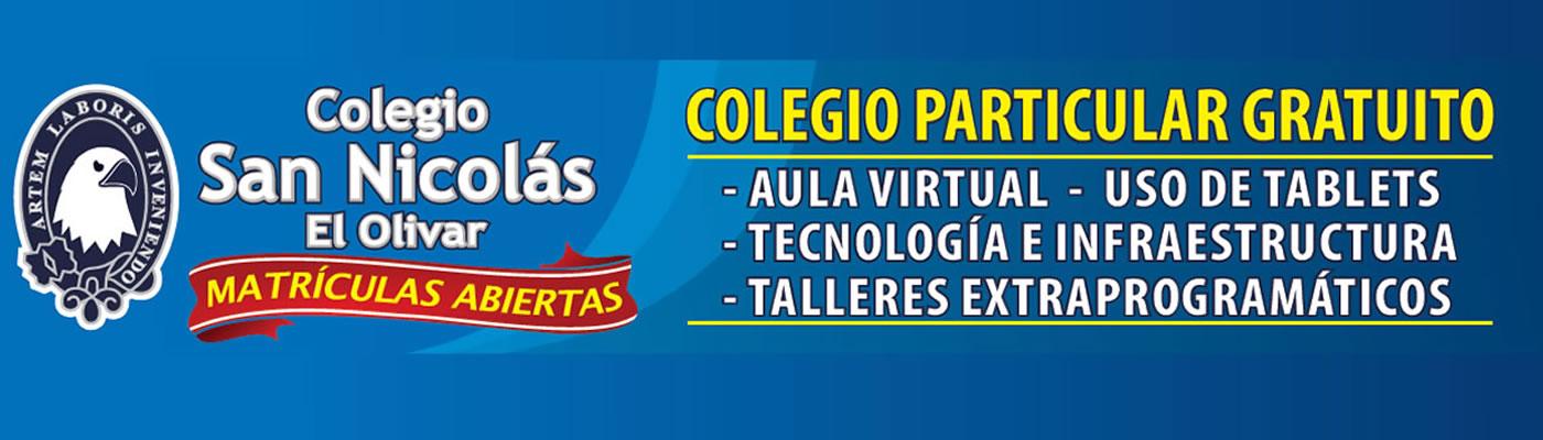 Admision 2017 Colegio San Nicolas, Olivar