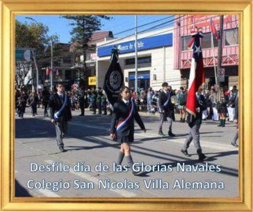 Acto Glorias Navales 2017 Colegio San Nicolas Villa Alemana