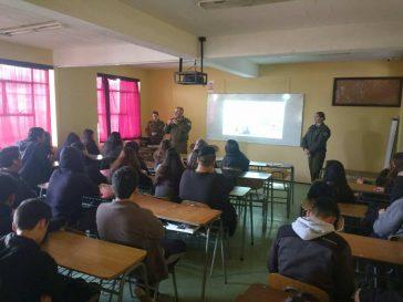 Realización de charla sobre Responsabilidad Penal Adolecente por Carabineros de Chile